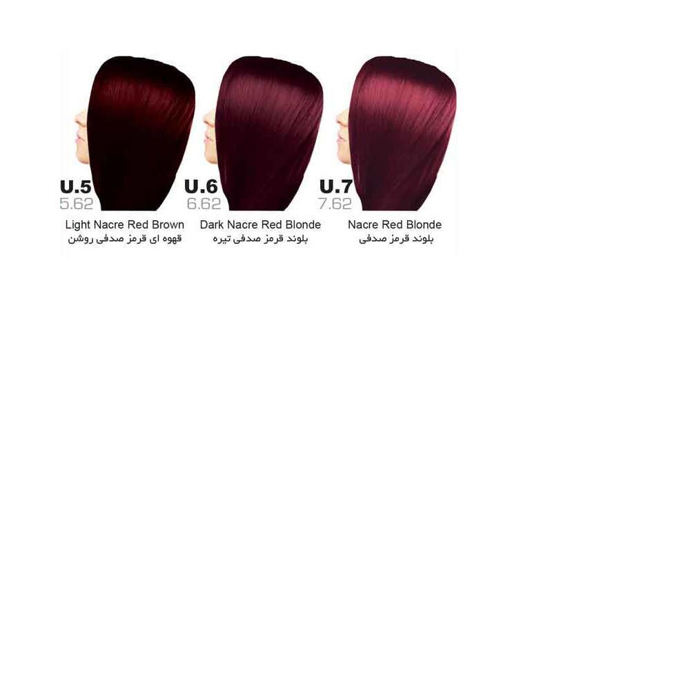 رنگ مو سون تایم | سری U (قرمز صدفی)