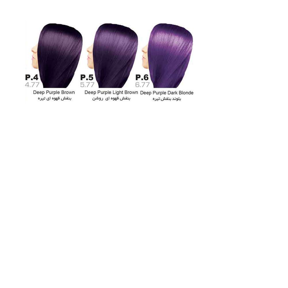 رنگ مو سون تایم | سری P (بادمجانی)