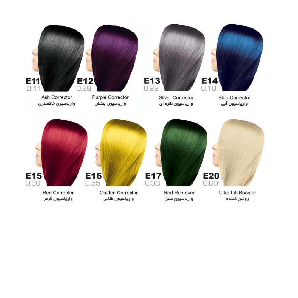 رنگ مو سون تایم | سری E (واریاسیون)
