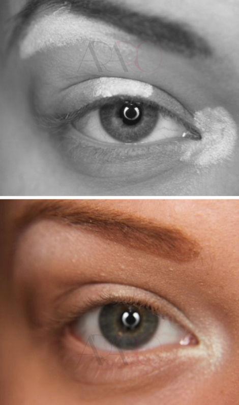 استفاده از های لایت های چشم برای طبیعی شدن آرایش