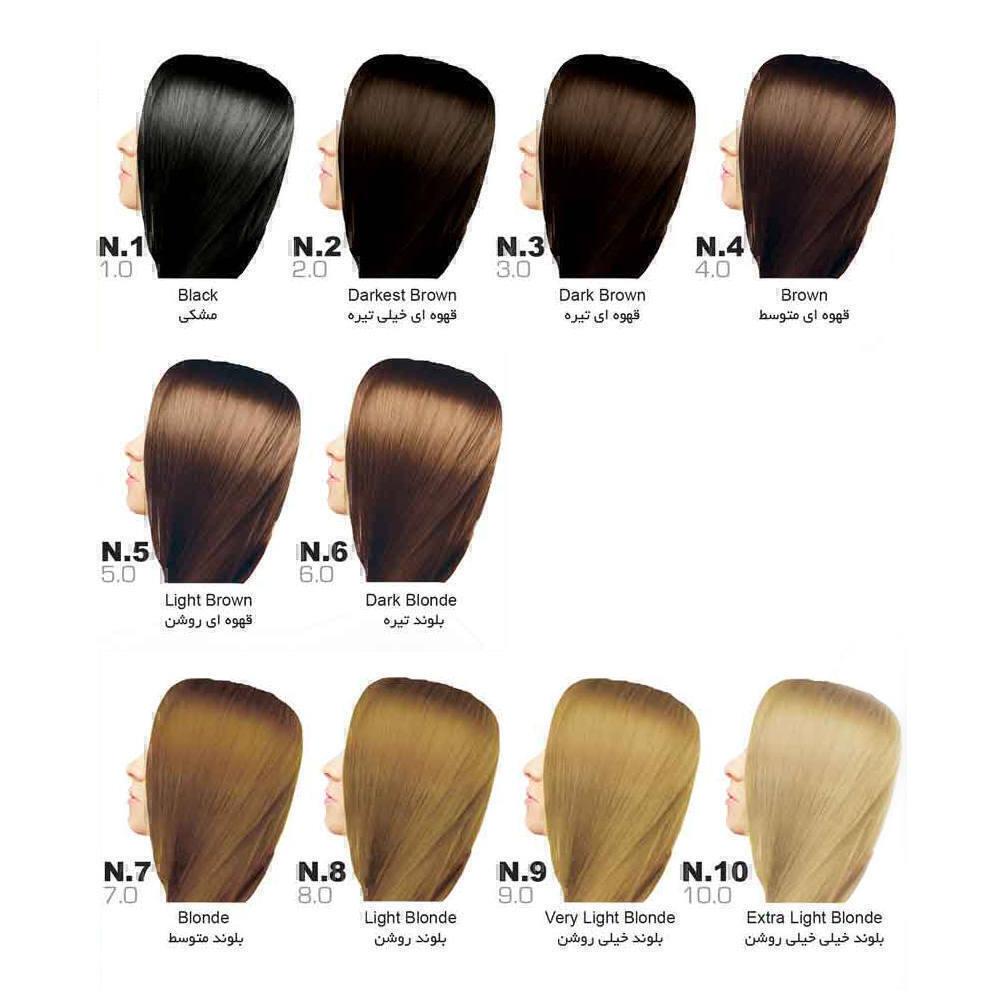 رنگ مو سون تایم | سری N (طبیعی)