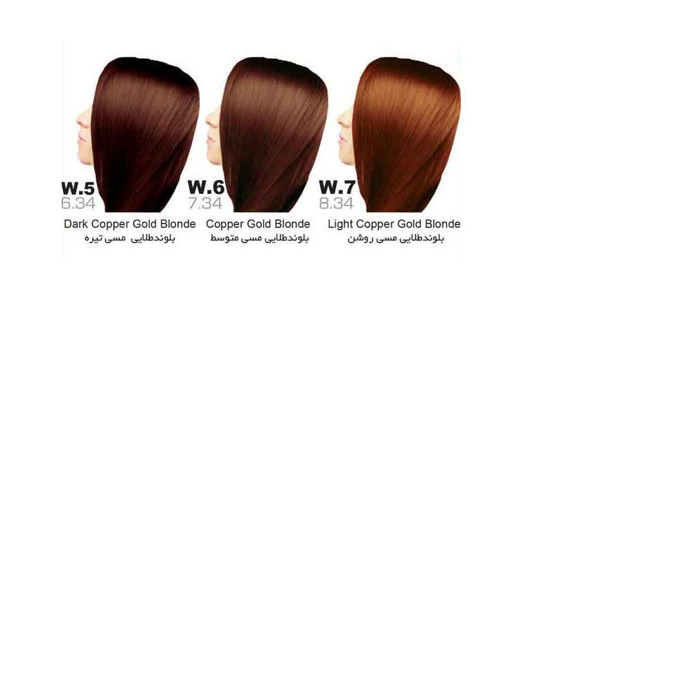رنگ مو سون تایم | سری W (طلایی مسی)